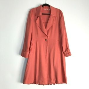 Soft Surroundings Coral Town Country Trench Jacket